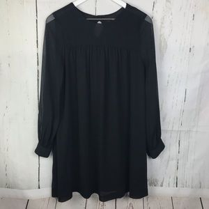 H&M Black Sheer Shift Dress